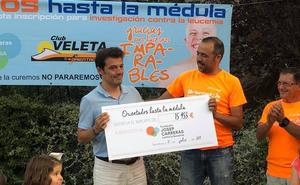 El Club Veleta entrega a la Fundación Josep Carreras la recaudación de la prueba solidaria celebrada en Sierra Elvira
