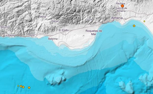 Cinco terremotos que se sintieron en Almería, entre los 27 más duros