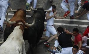 Los mozos de Pamplona, por fin, han podido elegir cuerno