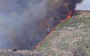El Ejército se suma a las labores de extinción del incendio de Terque
