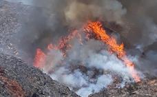 El fuego no da tregua en Terque