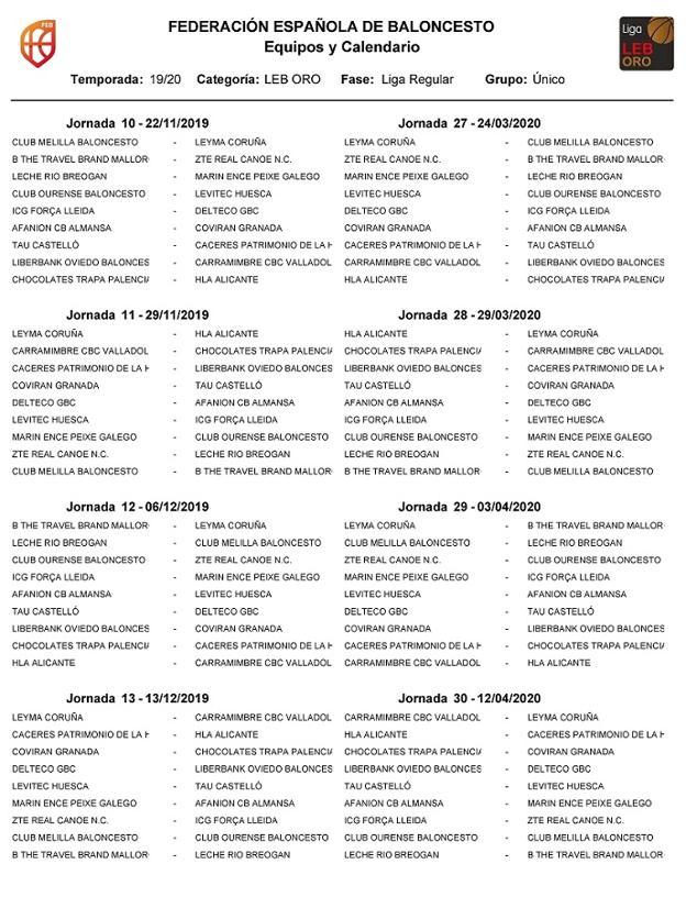 Leb Oro Calendario.Calendario Coviran Granada Fundacion Cb Granada Arrancara La Leb