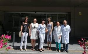 Profesionales de Polonia visitan varias áreas del Hospital de Jaén
