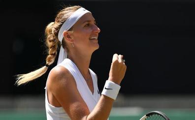 Petra Kvitova, juego, set y partido frente a la vida