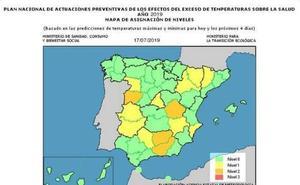 Sanidad activa el nivel naranja por altas temperaturas en la provincia de Jaén