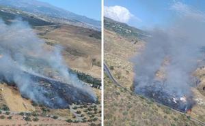 Infoca da por extinguido el incendio forestal en El Fargue y el agrícola de Calicasas