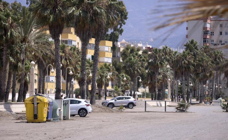 Zona de playa Poniente que el Ayuntamiento quiere utilizar como aparcamientos