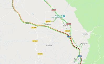 Tráfico lento y atasco de más de 25 kilómetros para volver de la Costa a Granada