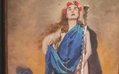Admitida a trámite la querella de Abogados Cristianos por un cuadro de la Virgen «masturbándose»