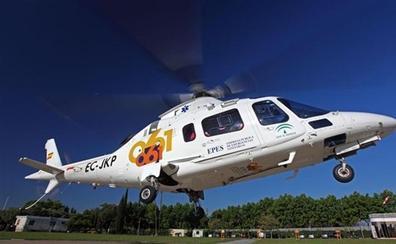 Rescatadas en helicóptero una niña de 11 años y una joven de 20 al caer en una zona de rocas en Otívar