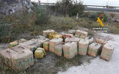1.400 kilos de hachís y 36 detenidos: macrooperación anti-droga de la Guardia Civil
