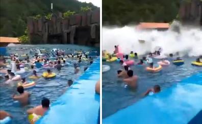 'Tsunami' inesperado en una piscina que deja 44 heridos