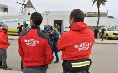 Rescatan a un trabajador herido tras quedar atrapado bajo un muro en una obra en el Paseo del Salón de Granada
