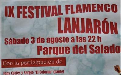 Lanjarón celebrará este sábado la IX edición del Festival Flamenco en el Parque del Salado