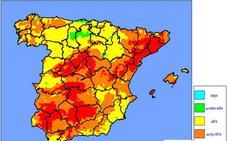 El riesgo de incendio es «extremo» en casi toda la provincia de Jaén