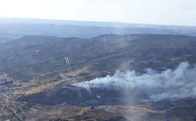 El fuego ha arrasado 25 hectáreas de matorral y pasto en Beas de Segura
