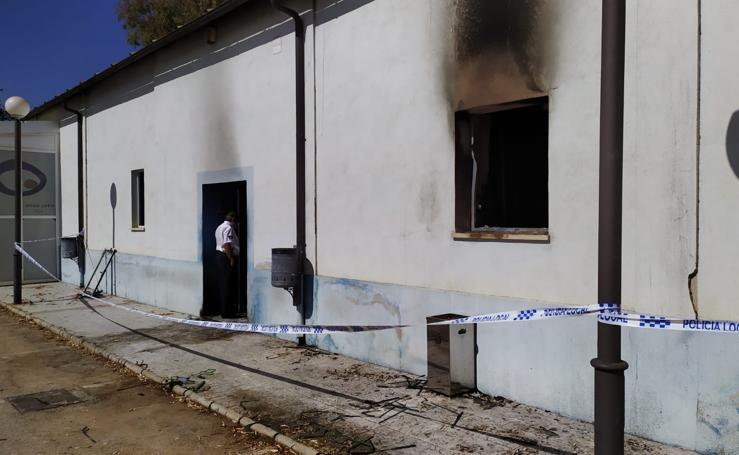 Así han quedado las instalaciones de Onda Jaén tras el incendio