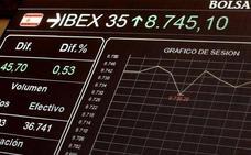 El Ibex-35 salva una sesión volátil con los tipos de los bonos en mínimos