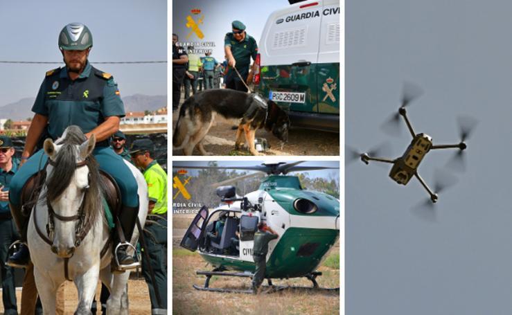 Por tierra y aire, en helicóptero, dron, a caballo y en vehículo todoterreno: así es el dispositivo de seguridad del DreamBeach