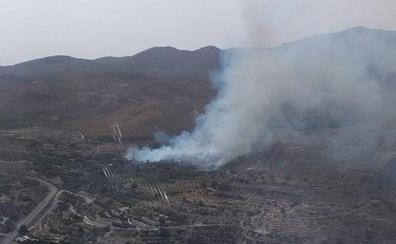 Estabilizado el incendio del paraje forestal La Ventaja de Canjáyar