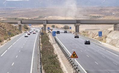 Las obras de la Segunda Circunvalación de Granada están paradas en un tramo desde principios de año