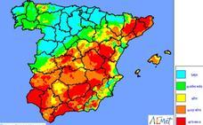 Infoca advierte del «riesgo extremo» de incendio forestal este domingo en Granada