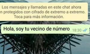 La Guardia Civil alerta del peligro del reto viral al contactar en WhatsApp con el 'vecino de número'