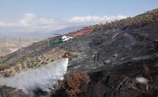 Controlado el incendio próximo a viviendas en Pinos del Valle