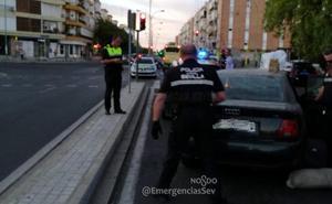 Estrella su coche «a toda pastilla» contra un Uber, atropella al conductor y los policías le descubren 3.500 euros