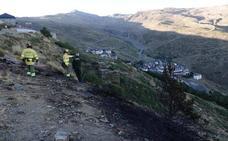 Un recorrido en vídeo por la zona de las llamas en Sierra Nevada