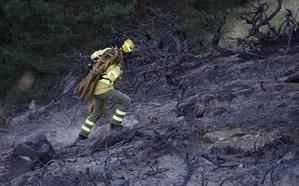 Investigan el origen del incendio forestal de anoche en Sierra Nevada, que arrasó 2,5 hectáreas