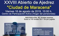 Mañana tendrá lugar la XXVIII edición del torneo de Ajedrez Ciudad de Maracena