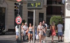 Granada, un horno: aviso amarillo y más de 40 grados para este domingo