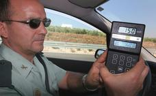 La Guardia Civil multa a uno de cada seis coches en Jaén por correr demasiado