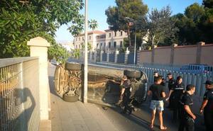 Aparatoso accidente en la carretera de Níjar de Almería