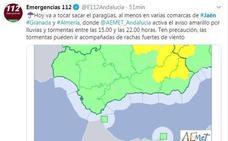Alerta amarilla por lluvias y tormentas en varias zonas de la provincia de Jaén