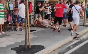 Brutal paliza a un turista por avisar de la estafa de los trileros en Benidorm