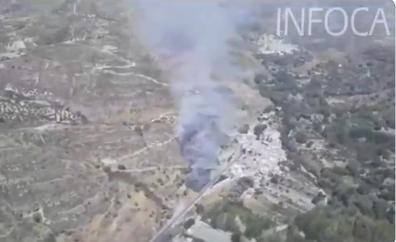 Controlado el incendio de Dúdar tras afectar a 1,3 hectáreas de pasto y matorral