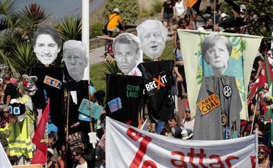 Trump lleva la bronca a Biarritz