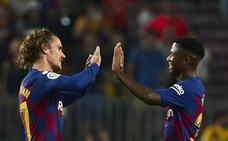 El Barça mira al futuro con el gran día de Griezmann, Carles Pérez y Ansu Fati