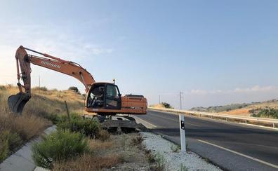 Fomento inicia las obras de la carretera que conecta Santa Cruz del Comercio y Alhama