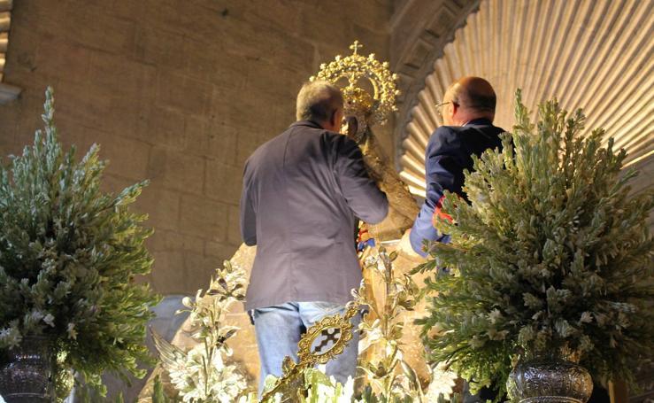 La imagen mariana de la Virgen del Mar se retira del culto para ser objeto de una profunda restauración