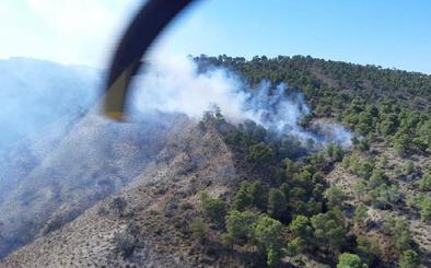 Controlado el incendio declarado entre Quesada y Huesa