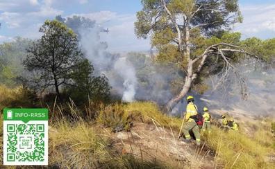 Declarado un incendio forestal en Quesada