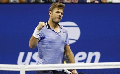 Wawrinka destroza a un lesionado Djokovic