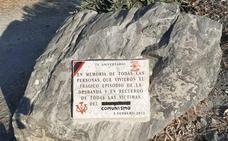 Sabotean en Almuñécar una placa en memoria de las víctimas del franquismo