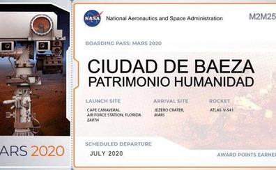 El nombre de Baeza viajará a Marte en julio de 2020