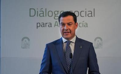 Moreno recupera el formato tradicional de diálogo con la CEA, CC OO y UGT para garantizar la paz social en Andalucía