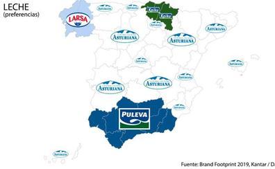 Estas son las marcas preferidas de los españoles en cada comunidad autónoma