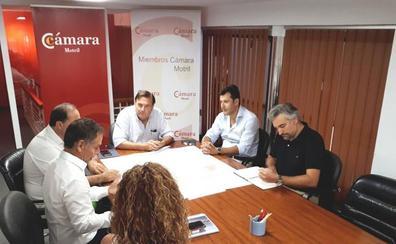 La Cámara de Comercio y la junta de propietarios de Playa Granada se reúnen para impulsar la marina interior